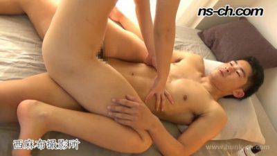 [HUNK-CH] NS-322 – ノンケのセックス事情!!激しいピストンでギブアップ寸前!!