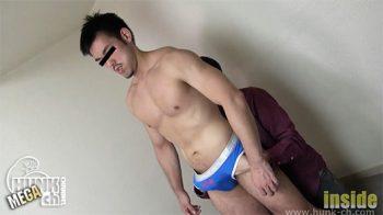 [HUNK-CH] INS-0401 – ワイルド髭青年へゴーグルマンから容赦ない性感責め