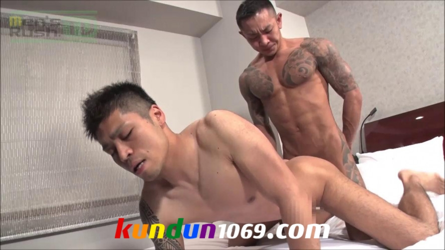 [MEN'S RUSH] MR-KR1360 – 厳つい男同士絡み合い!KOKIとMUSASHIが生合体♂