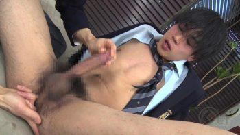 [MEN'S RUSH] GT-1524 – ブレザーKENSYOに顔射!!先輩とビンビン濡れ濡れ生SEX♂