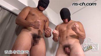 [HUNK-CH] NS-775 – 超AAA級筋肉男子Wフェラ(190cm99kg19歳・170cm75kg19歳)