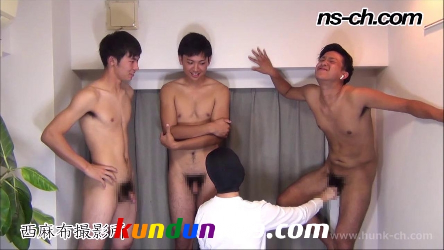 [HUNK-CH] NS-677 – 男経験0の体育会男子たち(175cm70kg20歳・185cm83kg18歳大学生・185cm81kg19歳)