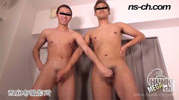 [HUNK-CH] NS-728 – 男経験0の体育会男子(175cm64kg19歳・185cm80kg19歳)