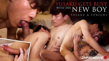 [JAPANBOYZ] YUSAKU GETS BUSY WITH THE NEW BOY YUKICHI